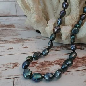 Jewelry - Black Freshwater Baroque Pearl Necklace